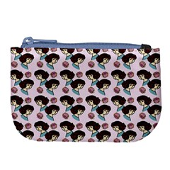 Redhead Girl Pink Large Coin Purse