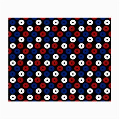 Eye Dots Red Blue Small Glasses Cloth by snowwhitegirl