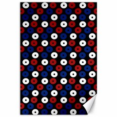 Eye Dots Red Blue Canvas 12  X 18
