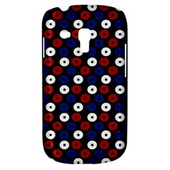Eye Dots Red Blue Samsung Galaxy S3 Mini I8190 Hardshell Case by snowwhitegirl