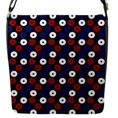 Eye Dots Red Blue Flap Closure Messenger Bag (s)