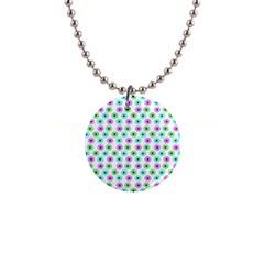 Eye Dots Green Violet Button Necklaces by snowwhitegirl