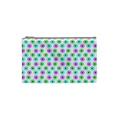 Eye Dots Green Violet Cosmetic Bag (small)