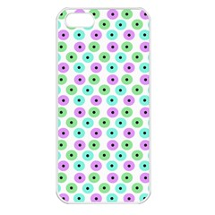 Eye Dots Green Violet Apple Iphone 5 Seamless Case (white)