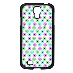 Eye Dots Green Violet Samsung Galaxy S4 I9500/ I9505 Case (black)