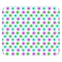 Eye Dots Green Violet Double Sided Flano Blanket (small)