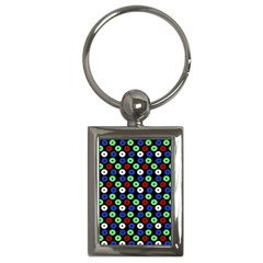 Eye Dots Green Blue Red Key Chains (rectangle)