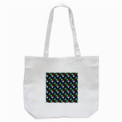 Eye Dots Green Blue Red Tote Bag (white)