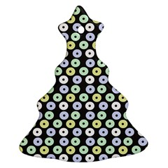 Eye Dots Grey Pastel Christmas Tree Ornament (two Sides)