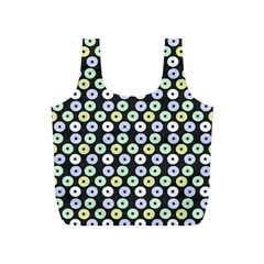 Eye Dots Grey Pastel Full Print Recycle Bag (s)