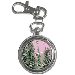 Winter Trees Pink Key Chain Watches