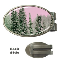 Winter Trees Pink Money Clips (oval)