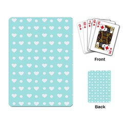 Hearts Dots Blue Playing Card