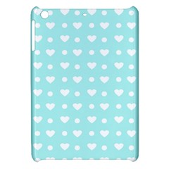 Hearts Dots Blue Apple Ipad Mini Hardshell Case