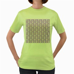 Hearts Dots Purple Women s Green T Shirt