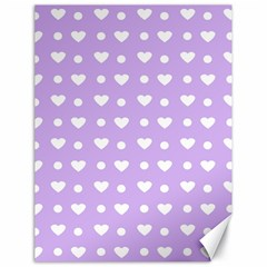 Hearts Dots Purple Canvas 18  X 24