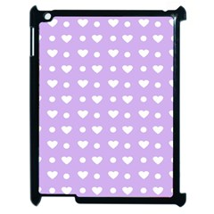 Hearts Dots Purple Apple Ipad 2 Case (black)