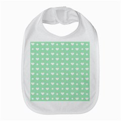 Hearts Dots Green Bib