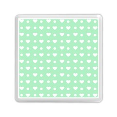 Hearts Dots Green Memory Card Reader (square)