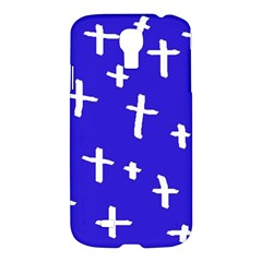 Blue White Cross Samsung Galaxy S4 I9500/i9505 Hardshell Case