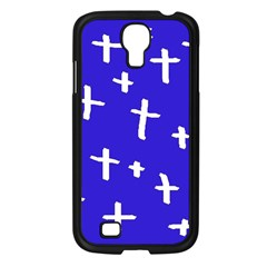 Blue White Cross Samsung Galaxy S4 I9500/ I9505 Case (black)
