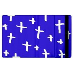 Blue White Cross Apple Ipad Pro 12 9   Flip Case