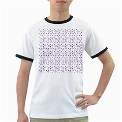 Hearts And Star Dot White Ringer T