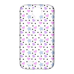 Hearts And Star Dot White Samsung Galaxy S4 Classic Hardshell Case (pc+silicone)