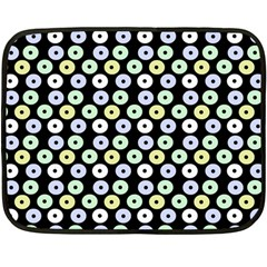 Eye Dots Black Pastel Double Sided Fleece Blanket (mini)  by snowwhitegirl