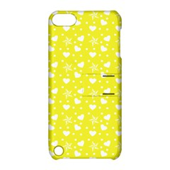 Hearts And Star Dot Yellow Apple Ipod Touch 5 Hardshell Case With Stand