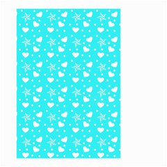 Hearts And Star Dot Blue Small Garden Flag (two Sides)