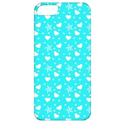 Hearts And Star Dot Blue Apple Iphone 5 Classic Hardshell Case