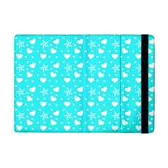 Hearts And Star Dot Blue Ipad Mini 2 Flip Cases by snowwhitegirl