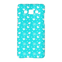 Hearts And Star Dot Blue Samsung Galaxy A5 Hardshell Case