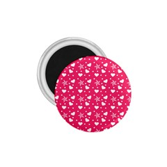 Hearts And Star Dot Pink 1 75  Magnets