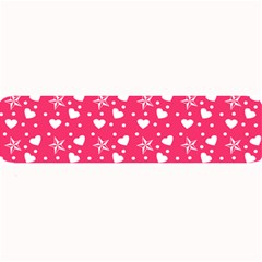 Hearts And Star Dot Pink Large Bar Mats