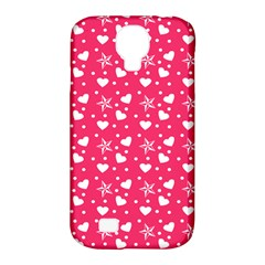 Hearts And Star Dot Pink Samsung Galaxy S4 Classic Hardshell Case (pc+silicone)