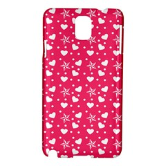 Hearts And Star Dot Pink Samsung Galaxy Note 3 N9005 Hardshell Case