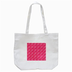 Hearts And Star Dot Pink Tote Bag (white)
