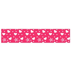 Hearts And Star Dot Pink Small Flano Scarf