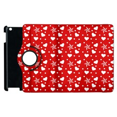 Hearts And Star Dot Red Apple Ipad 2 Flip 360 Case