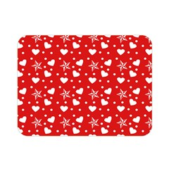 Hearts And Star Dot Red Double Sided Flano Blanket (mini)