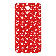 Hearts And Star Dot Red Samsung Galaxy Mega I9200 Hardshell Back Case