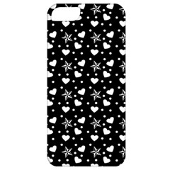 Hearts And Star Dot Black Apple Iphone 5 Classic Hardshell Case