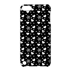 Hearts And Star Dot Black Apple Ipod Touch 5 Hardshell Case With Stand