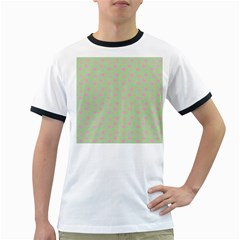 Hearts And Star Dot Green Ringer T