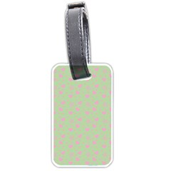 Hearts And Star Dot Green Luggage Tags (two Sides)