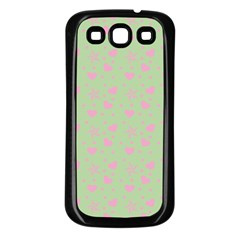 Hearts And Star Dot Green Samsung Galaxy S3 Back Case (black)