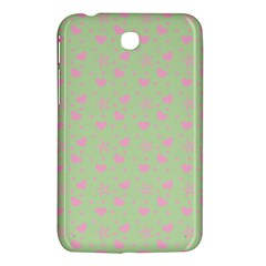 Hearts And Star Dot Green Samsung Galaxy Tab 3 (7 ) P3200 Hardshell Case