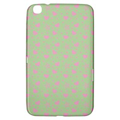 Hearts And Star Dot Green Samsung Galaxy Tab 3 (8 ) T3100 Hardshell Case